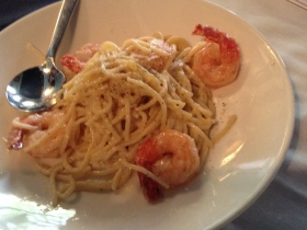 On The Menu at Buckley's: Pasta with shrimp