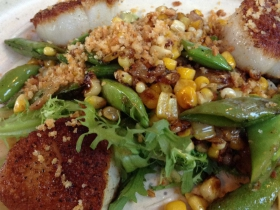 On The Menu at Goodkind: Sea Scallops with Frisee