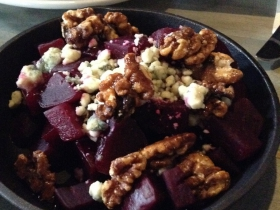 Roasted Beets and Blue