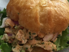 Shrimp Salad on Croissant