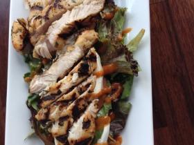 La Masa: Peach Caprese with grilled chicken