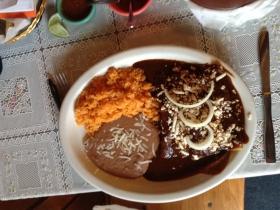 El Canaveral: Enchiladas with Mole