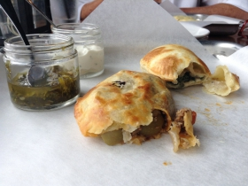 La Masa: Empanadas with chimichurri