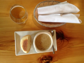 Milwaukee Beer Bistro: Eggplant cheese soup