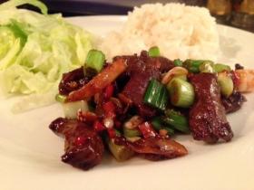 Jeffrey Merlot's Szechuan Beef.