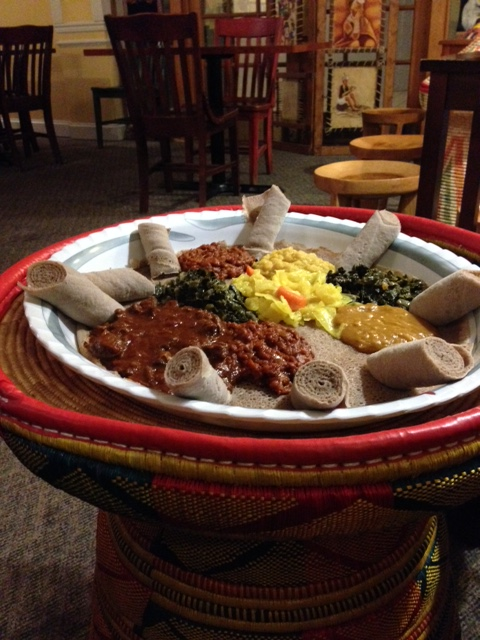 Traditional Ethiopian Dinner Service.