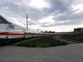 Talgo Trainsets Leaving Milwaukee