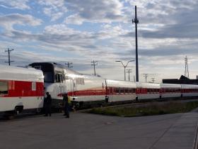 Talgo Trainsets Leaving Milwaukee
