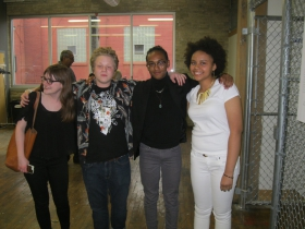 Chelsea Kelly, from MAM with some former students at Redline.