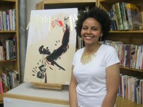Nia Wilson, teen artist at Redline.