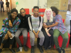 Teen Artists and supporters at Redline.