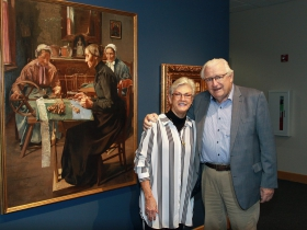 Rev. Pamela Viets and Dr. Eckhart Grohmann. Photo by Erol Reyal