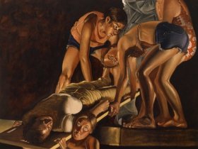 Alfred Leslie painting.