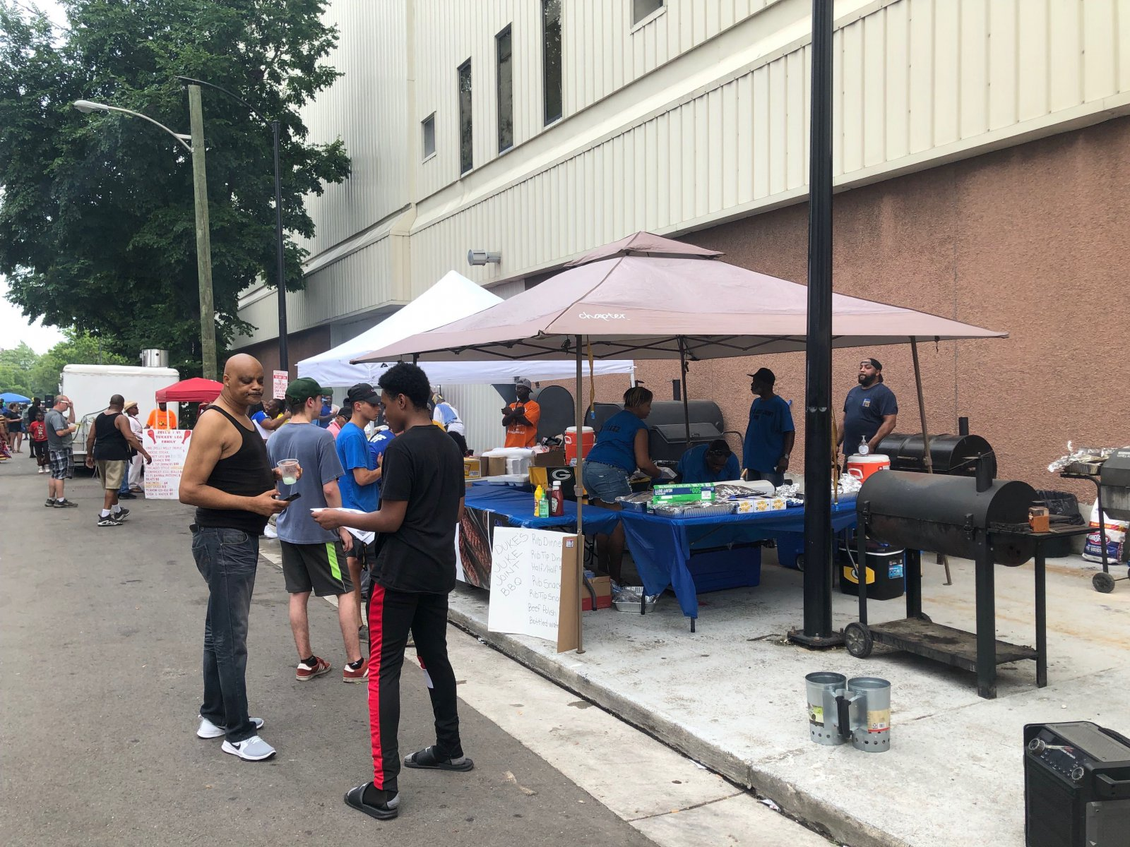 Barbecue Row at Garfield Avenue Festival