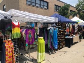 Vendors at Garfield Avenue Festival