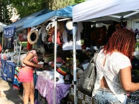 Vendors at the 18th annual Garfield Avenue Blues, Jazz, Gospel & Arts Festival