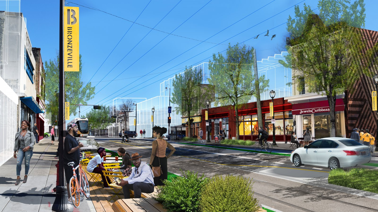 Streetcar Rendering for N. Martin Luther King Jr. Dr.
