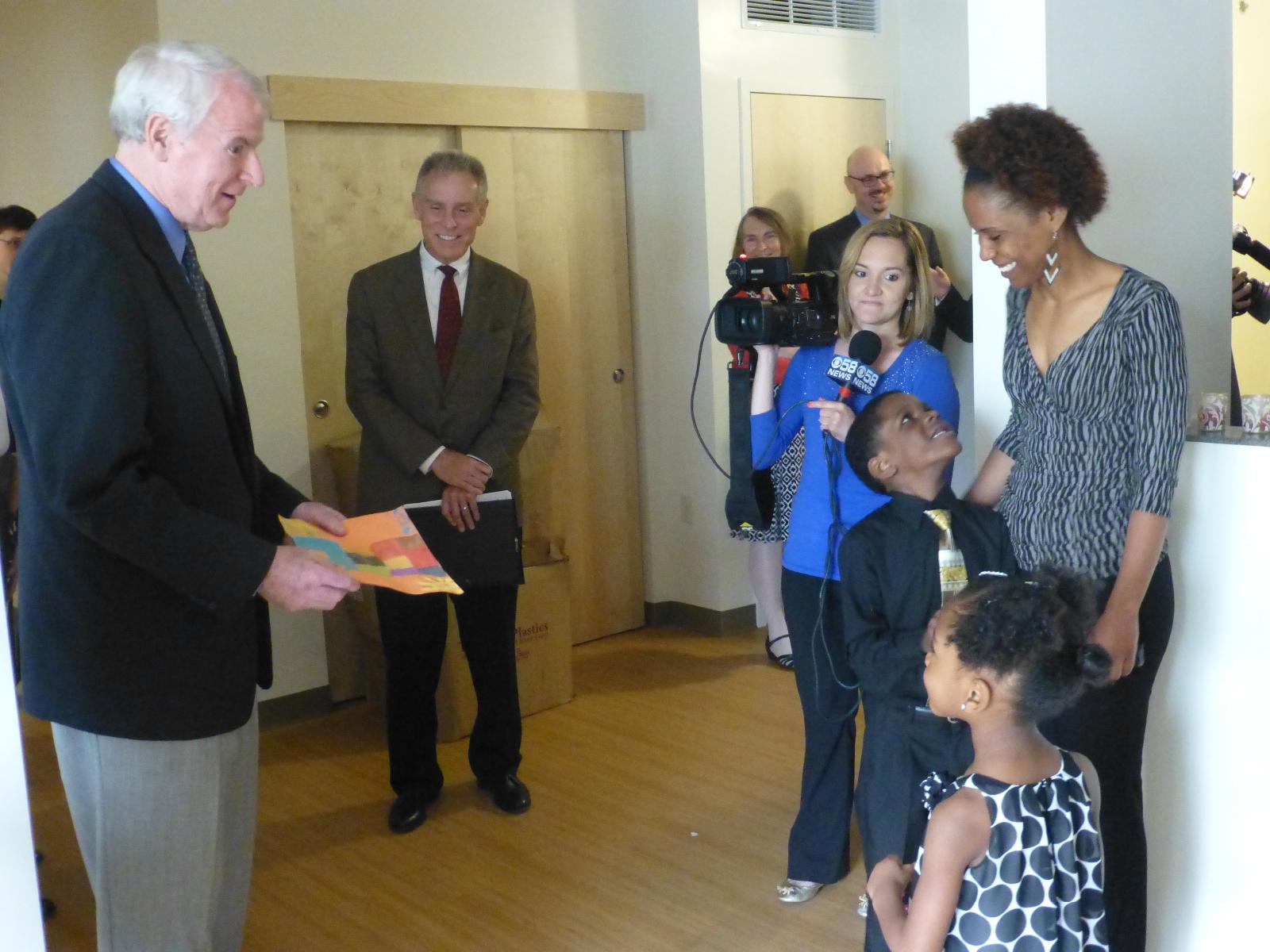 Meeting the mayor.