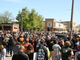 Pre-March Crowd