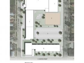Site plan for Malcolm X Academy site. Click image to enlarge.