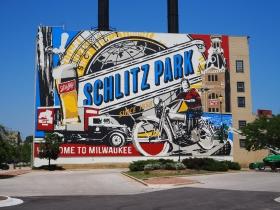 Mural on the former Schlitz Powerhouse