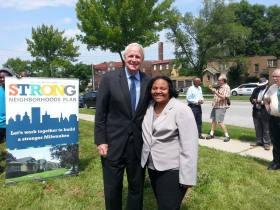 Mayor Tom Barrett and Ald. Milele Coggs.