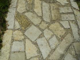 Porous paving next to the church