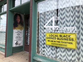 Local Black Owned Business Sign