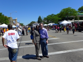 Kimberly Walker and Chris Abele at the 2013 Juneteenth Parade.
