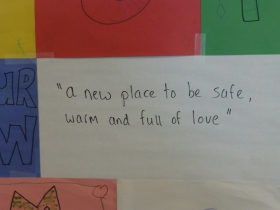 A new place to be safe, warm and full of love.