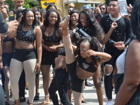 Dance group shows off their moves at Juneteenth Day 2017