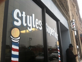 Style's Superior Barber Shop. Photo by Tony Atkins.