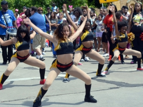 A dance group at Juneteenth Day 2017