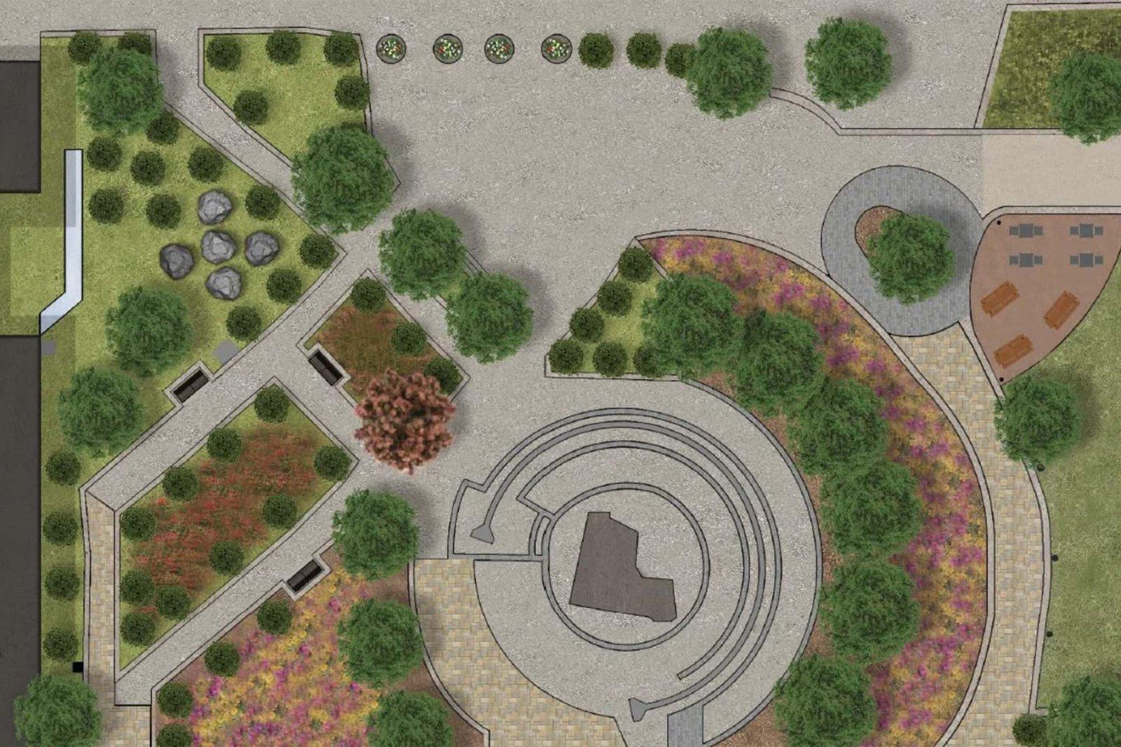 Victory Over Violence Park Rendering