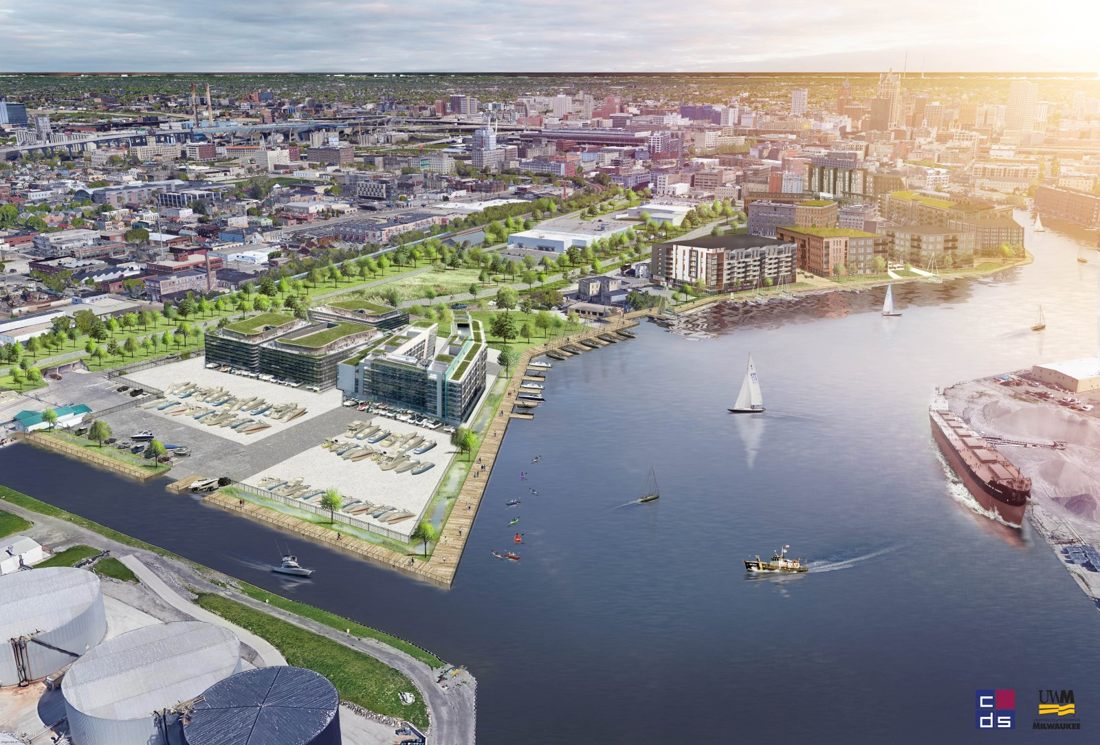 Harbor View. Rendering by UWM Community Design Solutions.