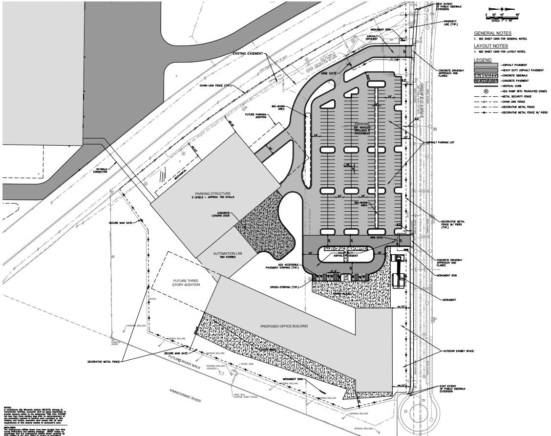 Komatsu Office Site Plan