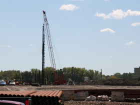 Pile Driving at South Harbor Campus