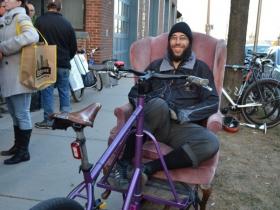 Sam Dodge shows off a Coast In Bikes original