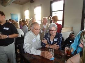 Gene Gilbert, President of Milwaukee Turners Inc., and his wife Jane.