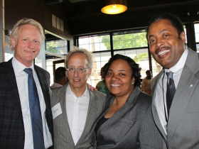 Mark Eppli, Barry Mandel, Milele Coggs (alumni), and Willie Wade