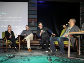 Alyssa Feuerer, 88Nine Marketing Director, Joe Kirgues, Co-Founder gener8tor, Radio Milwaukee Executive Director, Glenn Kleiman and Jordan Lee