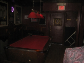 Pool table at Harbor Room