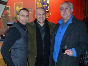 Alderman Jose Perez at a fundraisers for Edward Fallone