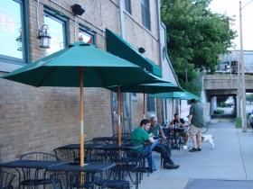 O'Lydia's street side front patio.