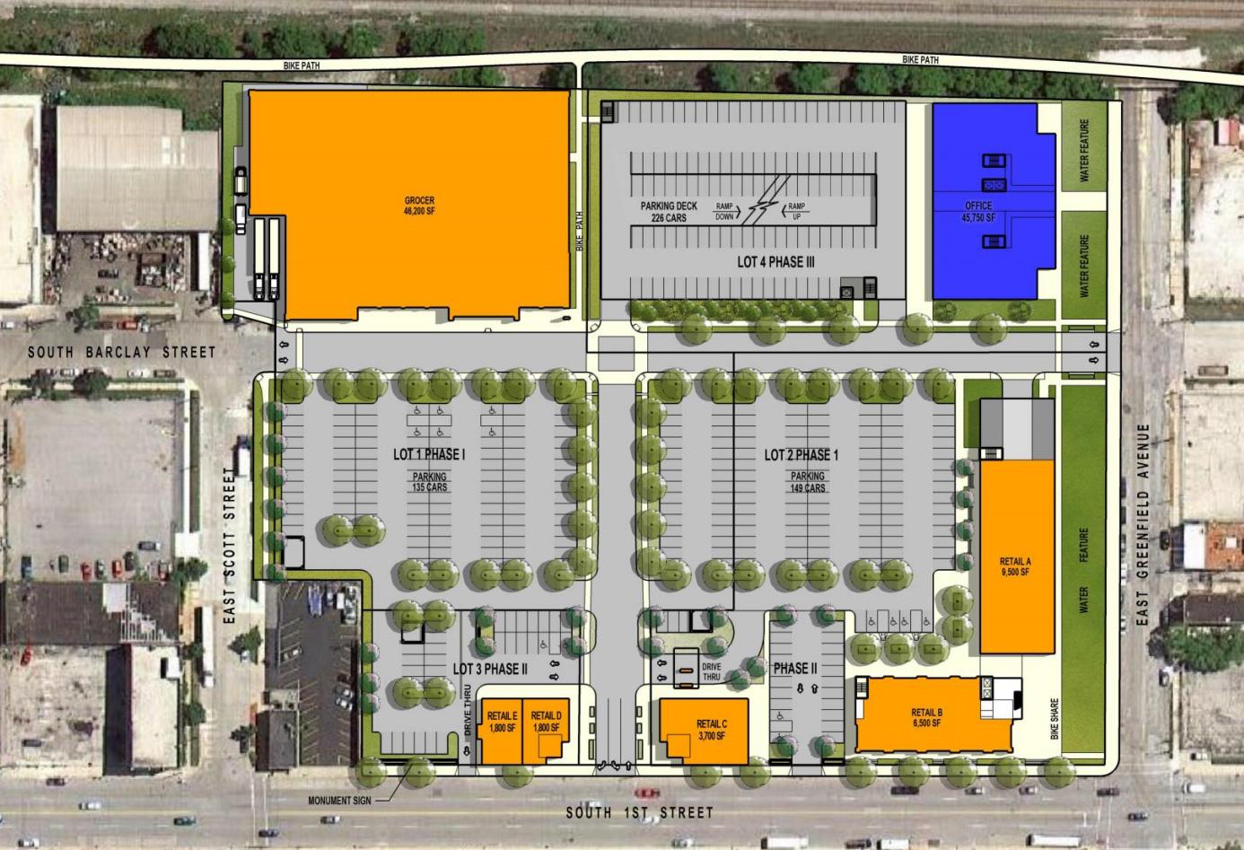 Freshwater Plaza Layout