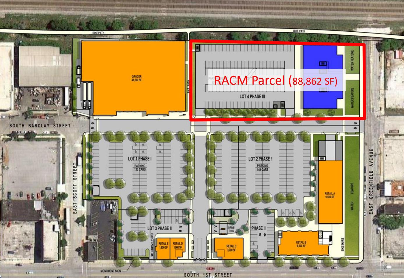 Freshwater Plaza Layout - 200 E. Greenfield Identified