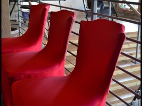 RedLine Lobby Chairs. Photo by Grace Fuhr.