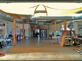 Artist Studio Spaces Fill the Gallery's Second Floor. Photo by Grace Fuhr.