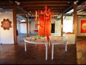 The Gallery is Filled with Vibrant Pieces by MIAD Professor Fahimeh Vahdat
