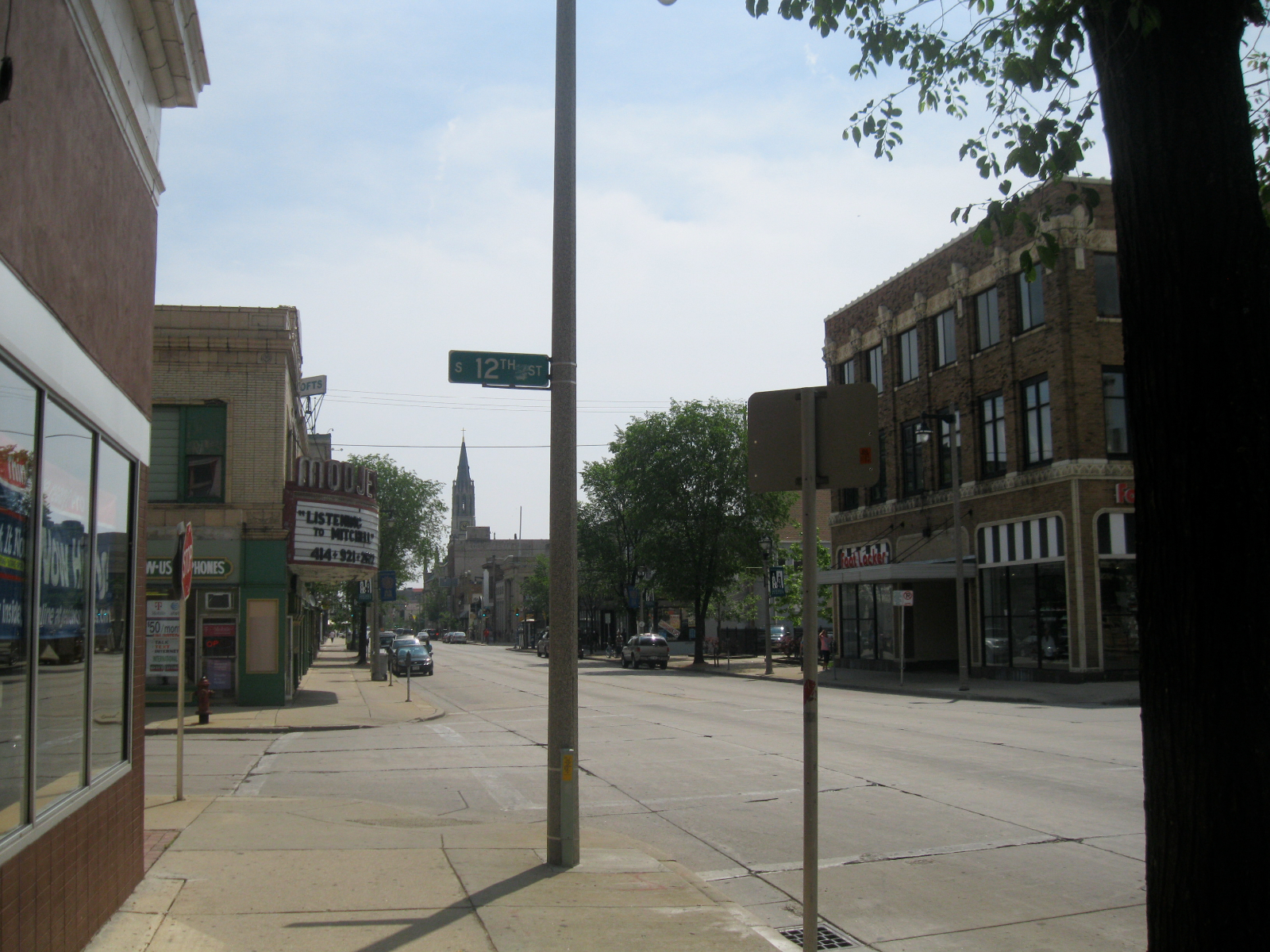 Intersection of 12th and Mitchell streets.